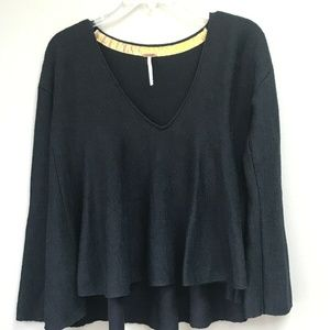 Free People Black Boho Sweater XS